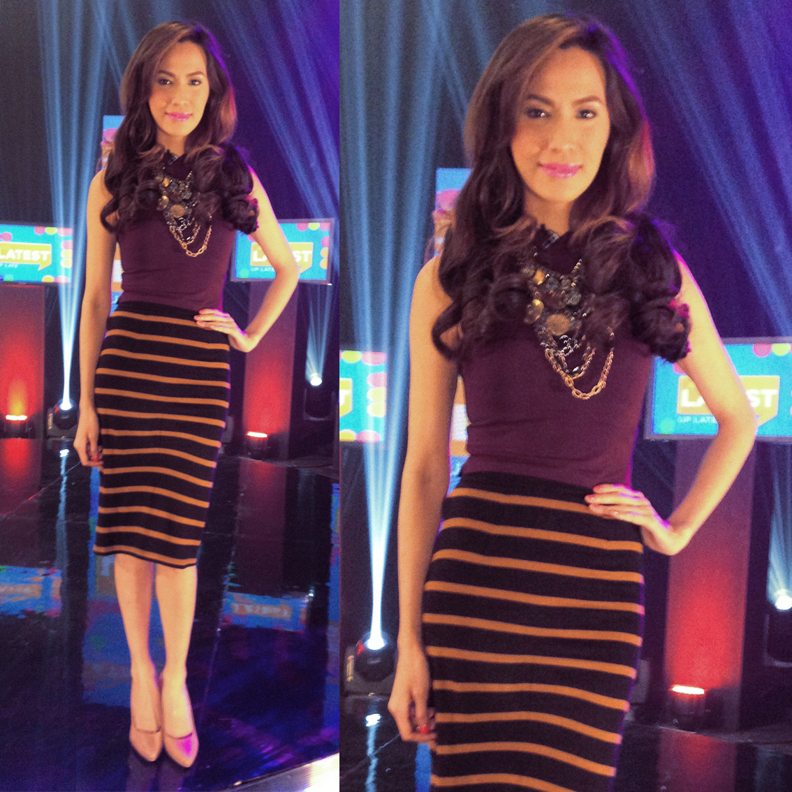 D in stripes for Ang Latest